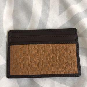 Men's coach wallet slim yellow